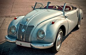 Vintage Gray Convertible Coupe